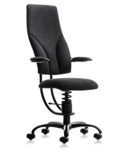 Ортопедическое компьютерное кресло SpinaliS Navigator Black