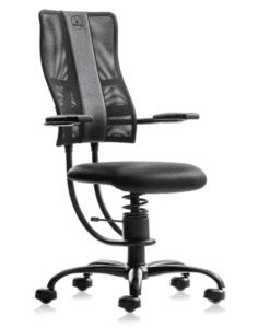 Необычное офисное кресло SpinaliS Hacker black, подвижное сиденье, офисное кресло, кресло с подвижным сиденьем