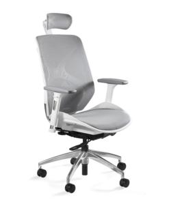 Ергономічне крісло UNIQUE HERO White анатомічне крісло для комп'ютера купити ергономічне комп'ютерне крісло