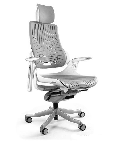 кресло в спортивном стиле, Кресло MERRYFAIR WAU white Elastomer, Уникальное геймерское кресло