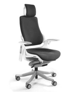 Офисное кресло MERRYFAIR WAU white BL-Black, Эргономичное кресло MERRYFAIR