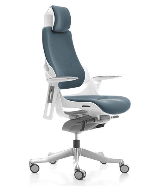 компьютерное кресло MERRYFAIR WAU white BL-SteelBlue