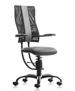 Кресло SpinaliS HACKER grey, ортопедическое офисное кресло