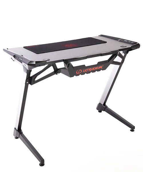 стол для геймера Ultradesk RACER, Геймерский стол с LED подсветкой