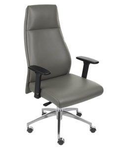 Кожаное офисное кресло Grospol Modo Grey