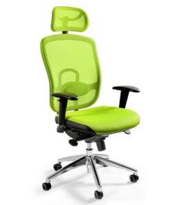 Ергономічне крісло UNIQUE VIP Green