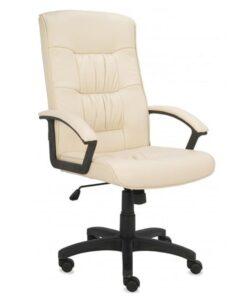 Кресло кожаное Grospol Relaks Cream